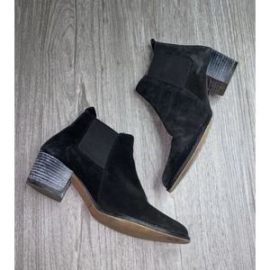 Kenneth Cole New York Suede Pointy Toe Ankle Boots